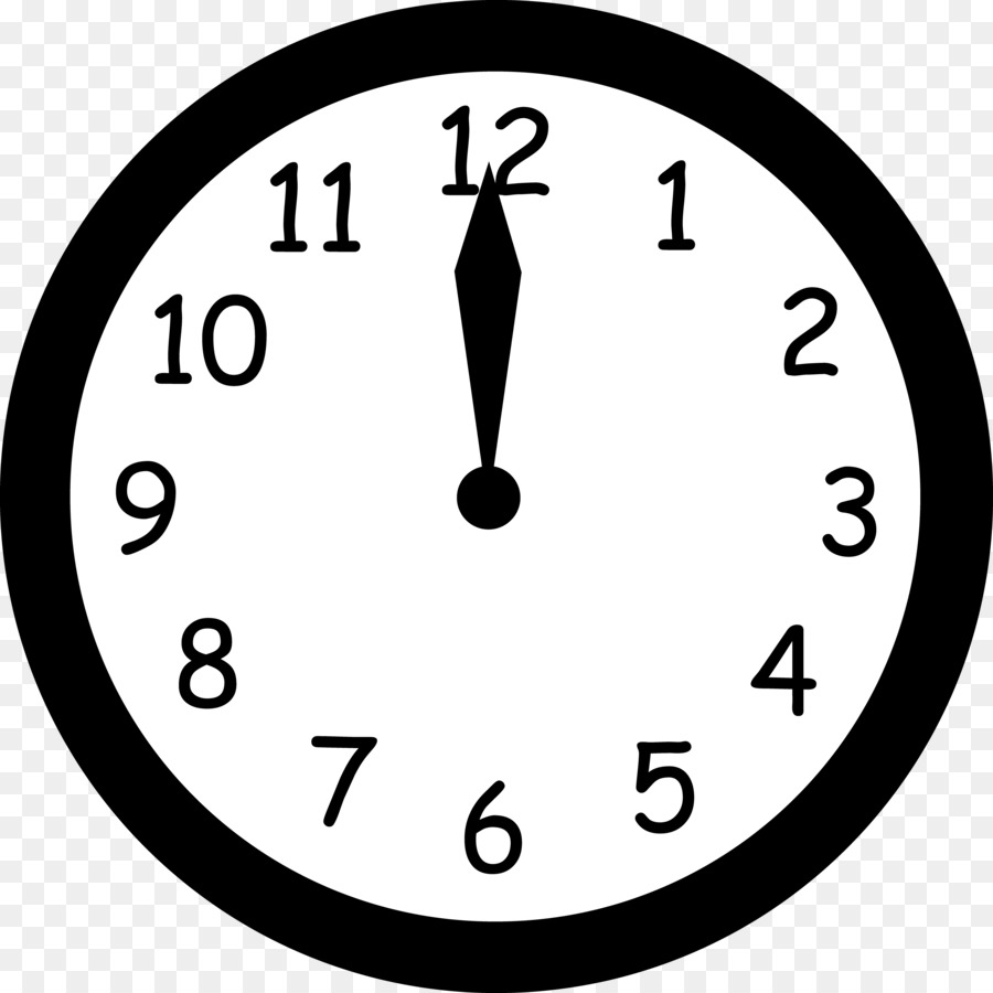 Digital Clock Black And White Clip Art