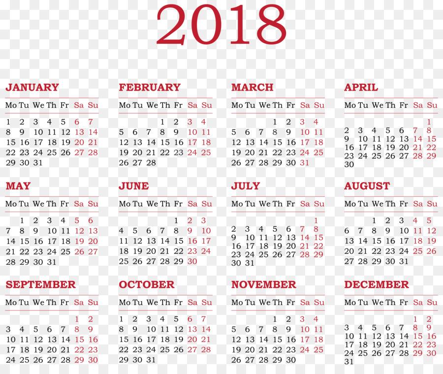 calendar new year clip art 2018 calendar transparent png clip art