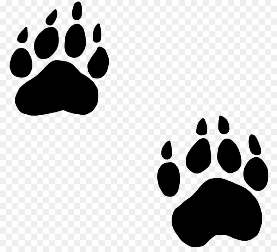 Bear Paw Dog Cat Clip Art Animal Footprints Cliparts Png Download
