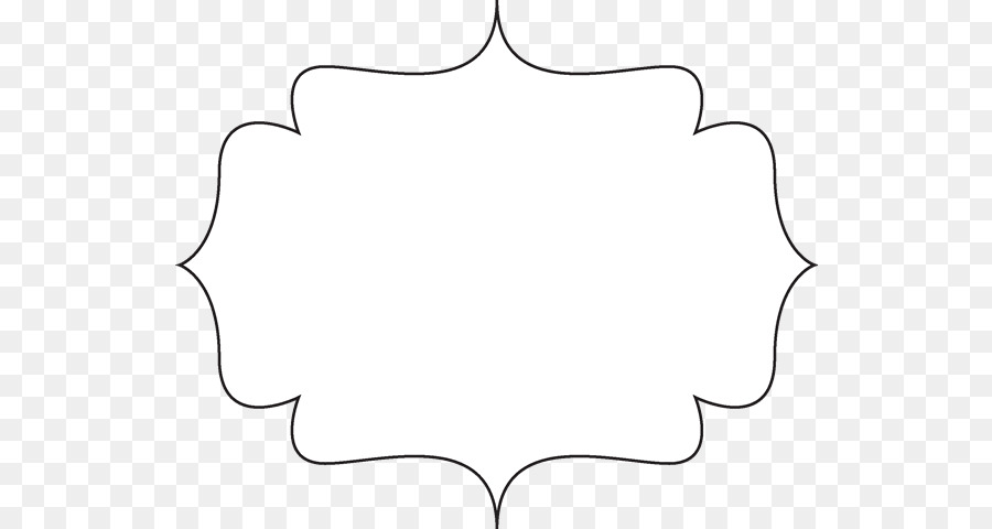 Paper Line Black and white Angle Point - Frame Outline Cliparts png ...