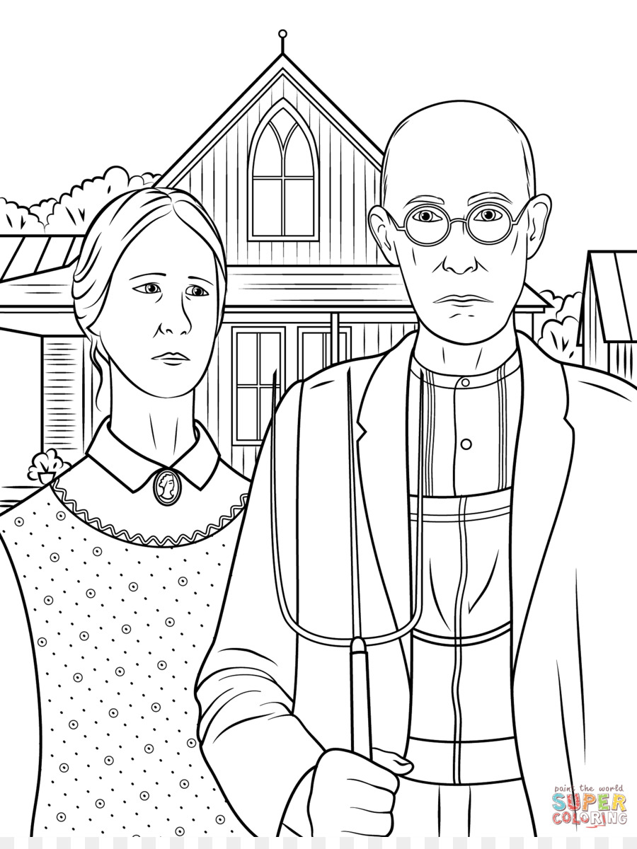 American Gothic Paul Reveres Ride Coloring Book Google Arts Culture