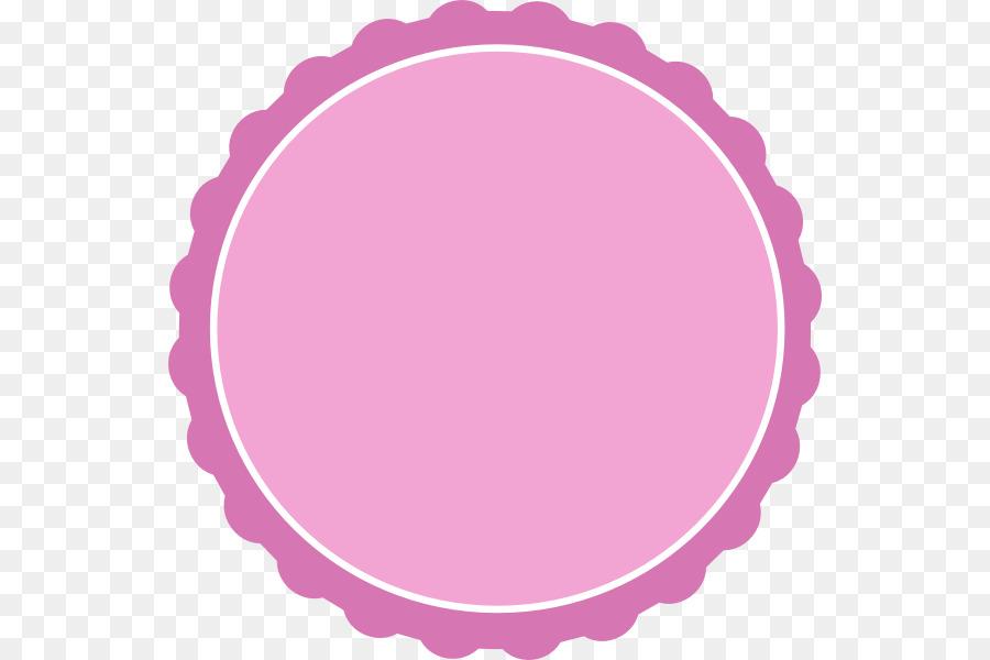Circle Scallop Clip art - Frame Circle Cliparts png download - 594 ...