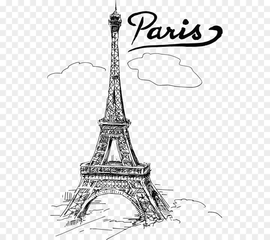 Eiffel Tower Drawing T Shirt Paris Png File 584 800