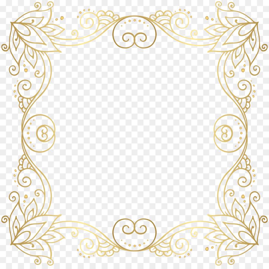 Gold Clip art - Gold Border Frame PNG Clip Art Image png ...