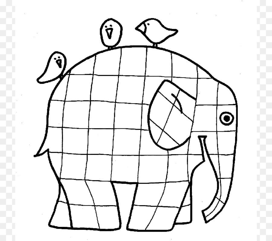 Elmer Elmer Fudd el Patchwork de Elefantes para Colorear Página del ...