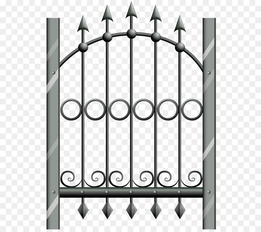 Metal Gate Fence Wrought iron Door - Fence pattern  sc 1 st  PNG Download & Metal Gate Fence Wrought iron Door - Fence pattern png download ...