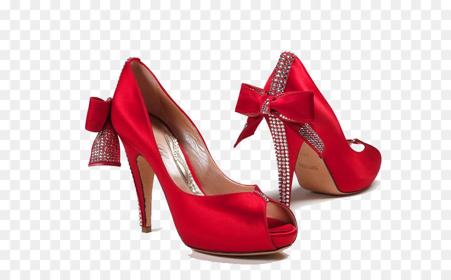 Shoe Bride Red High Heeled Footwear Wedding Female Shoes Png Hd