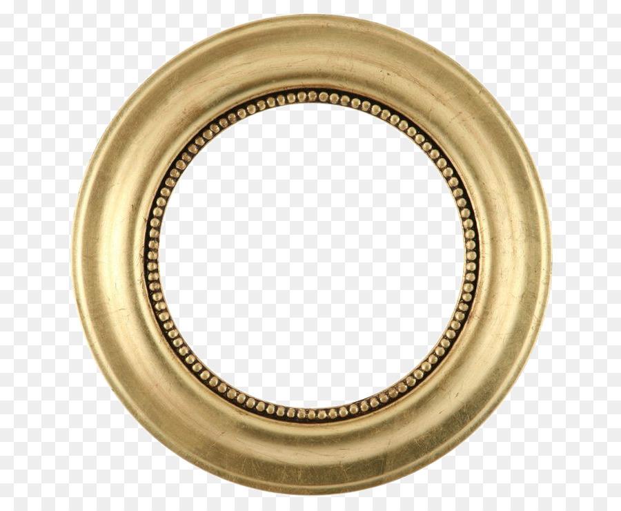 Unique Picture frame Mirror Gold leaf Circle - Golden Round Frame  QA07