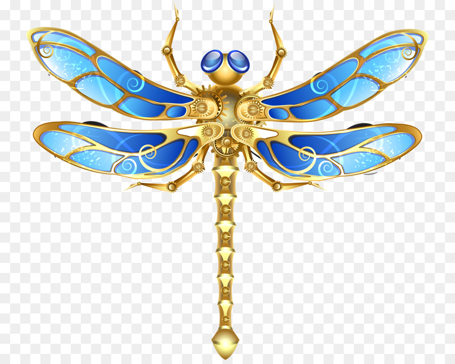 Butterfly Steampunk Coloring Bee Dragonfly Color Dragonfly Png