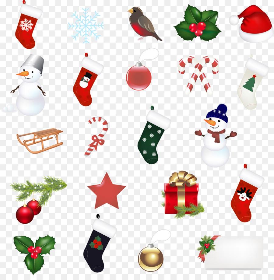 Santa Claus media de la Navidad Clip art - Lindo Calcetines De ...
