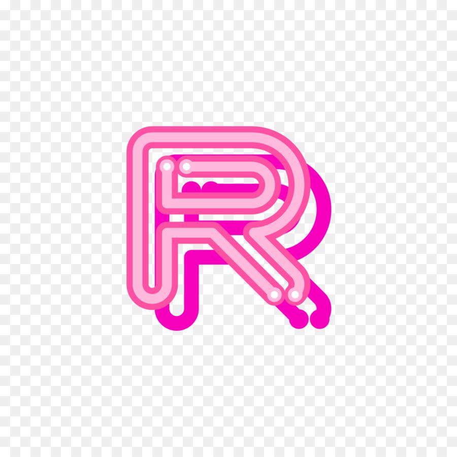 Letter Red Logo Font - Red uppercase fluorescent letter R png ...