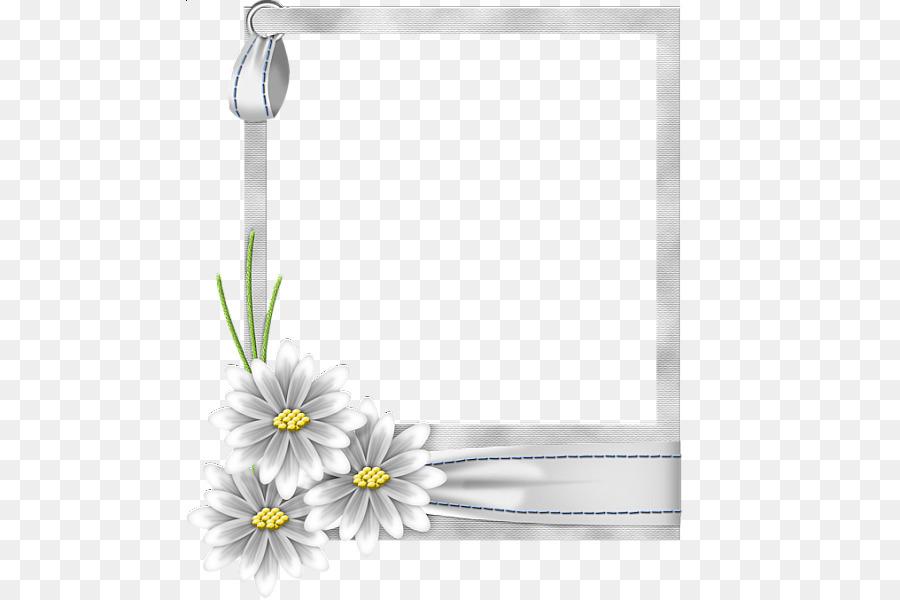 Picture frame Flower Clip art - White Flower Frame Transparent PNG ...