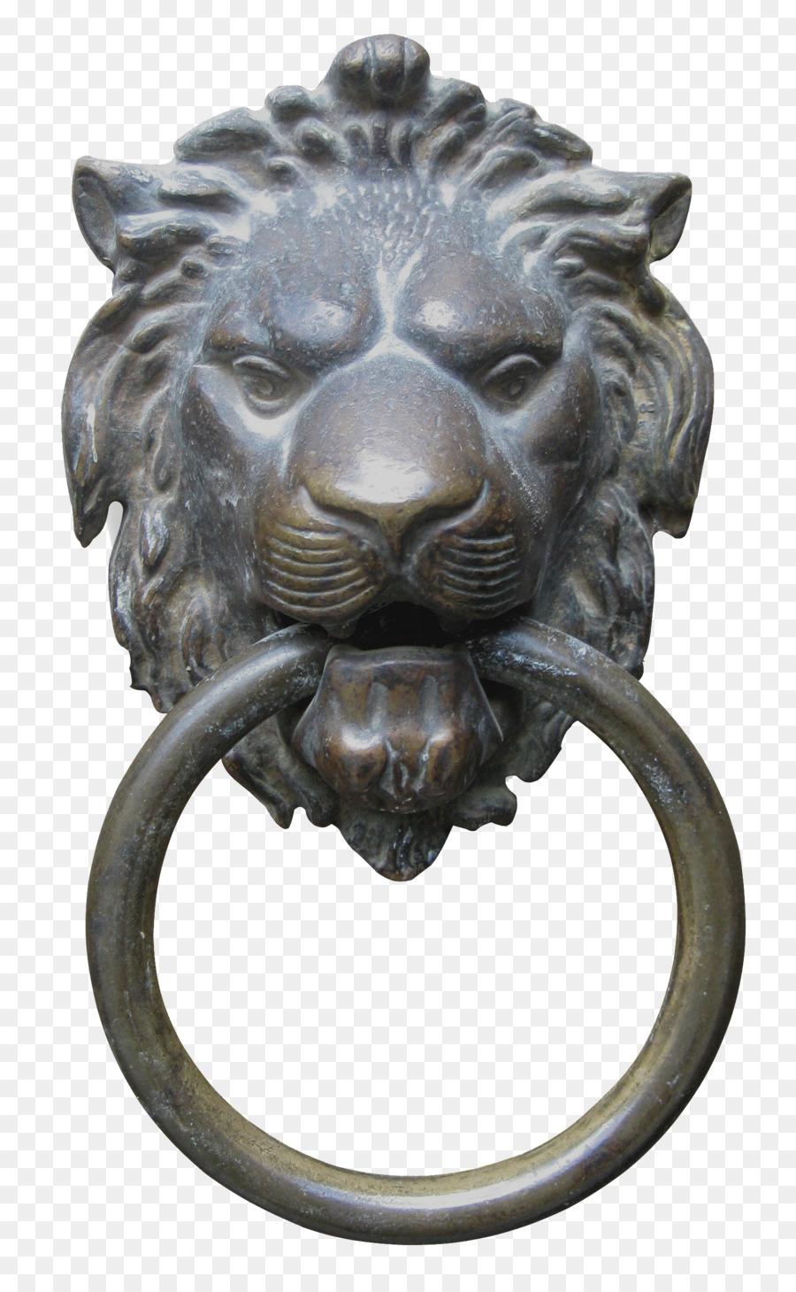 Bon Lions Head Door Handle Door Knocker   Bronze Lion Head Door Knocker