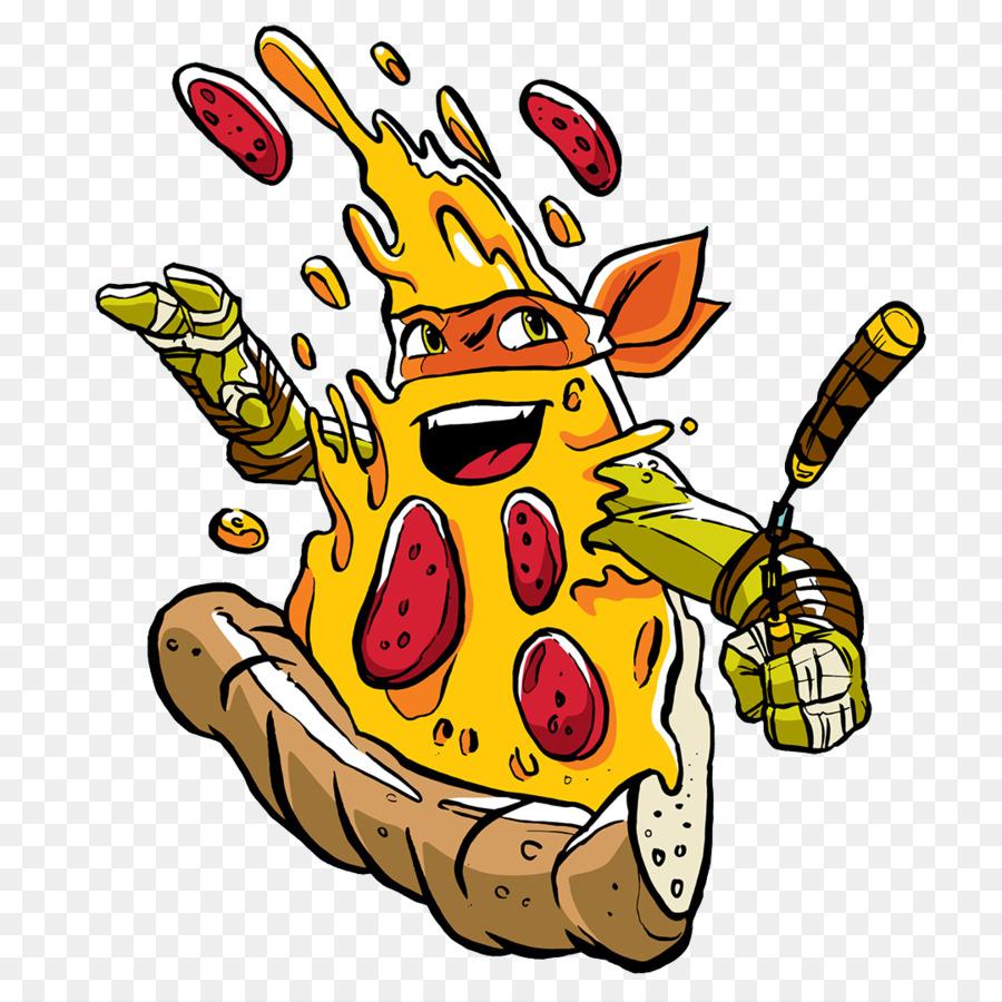 Michelangelo Pizza Teenage Mutant Ninja Turtles Illustration Pizza