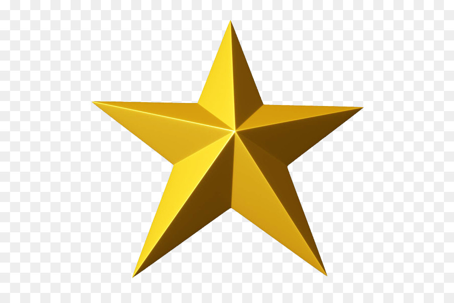 star clip art 3d gold star png clipart png download 600 600