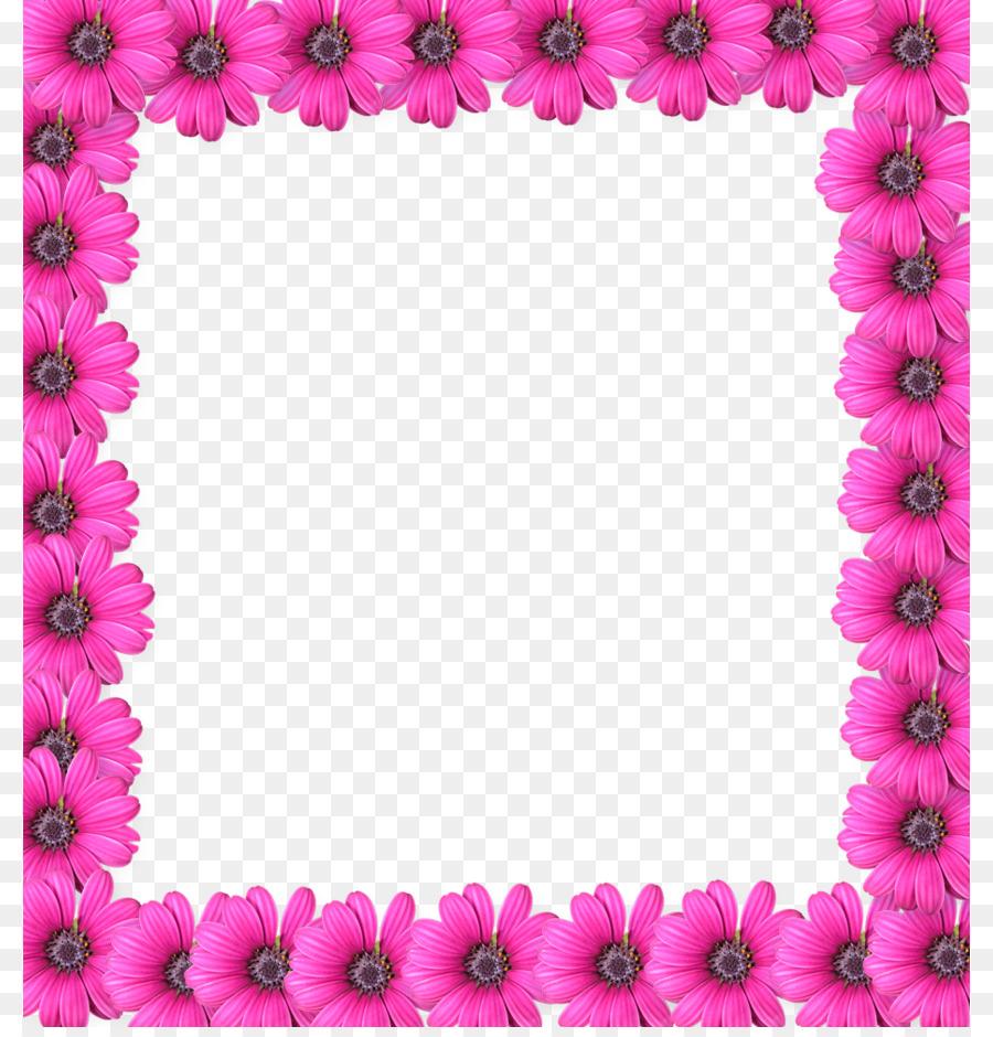 Marco de fotos de Flores de color Rosa Clip art - Flor rosa de Marco ...