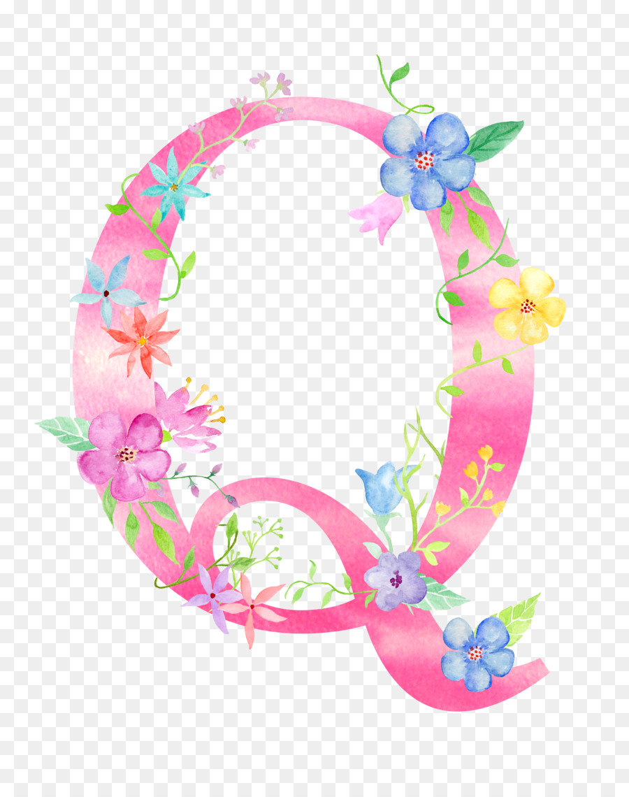 Letter Q Download - Flowers letter Q png download - 2400*3000 - Free ...