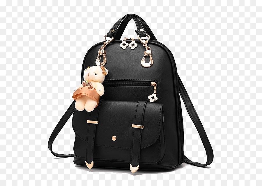 16201fa8b Mochila Bolsa De Couro Moda - Senhora mochila preta - Transparente ...