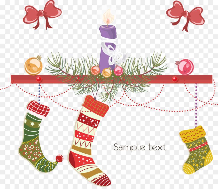 Calcetín de navidad tarjeta de Navidad, tarjeta de Ilustración ...