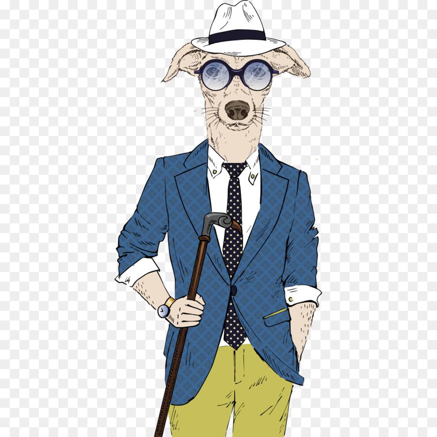 Dog Hipster Illustration - Puppy gentleman suit png download - 1000 ...