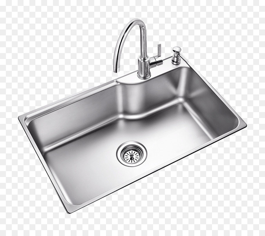 Beau Kitchen Sink Moen Tap Stainless Steel   Single Large Sink