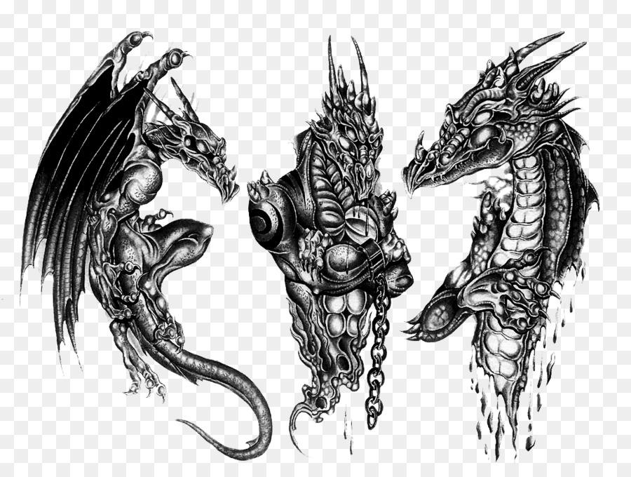 0000ffcf6 Sleeve tattoo Black-and-gray Dragon Tattoo artist - 3D Dragon Tattoo ...