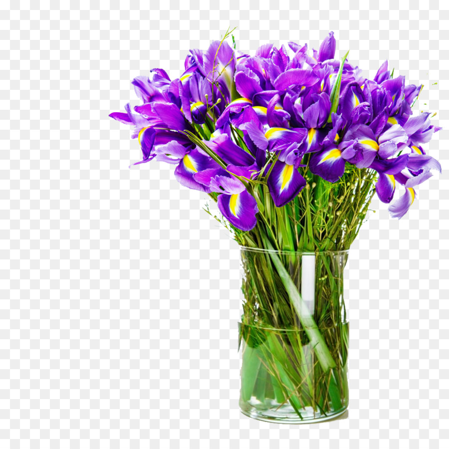 Birthday Flower Bouquet Mothers Day Holiday Blue Flower Vase