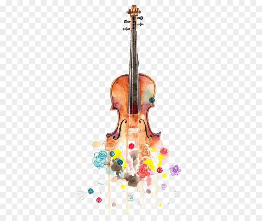 Violin Watercolor Painting Drawing Musical Instrument