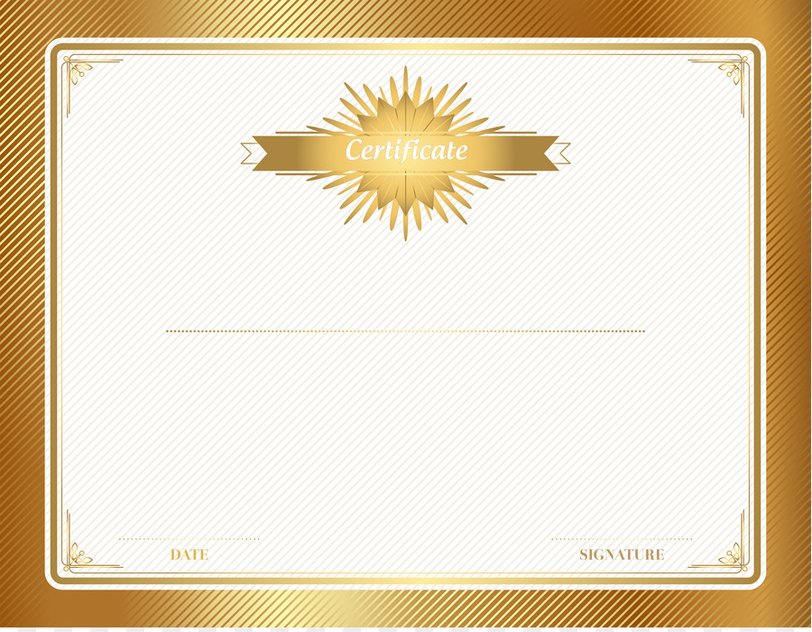 Paper Text Picture Frame Yellow Font Gold Certificate Template