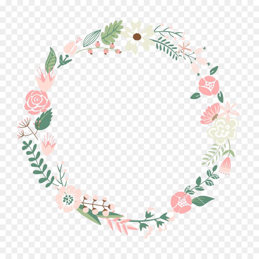 flower picture frame wreath clip art