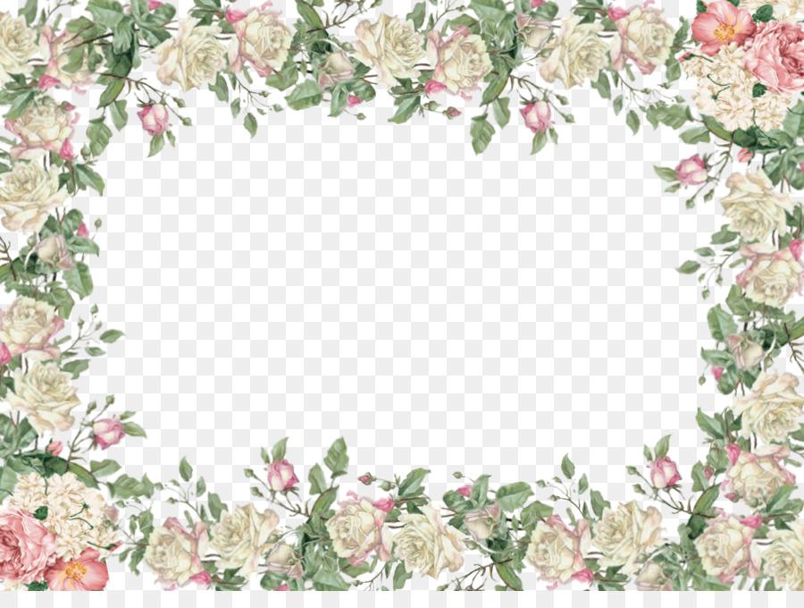 Picture frame Flower Clip art - White Flower Frame PNG Transparent ...