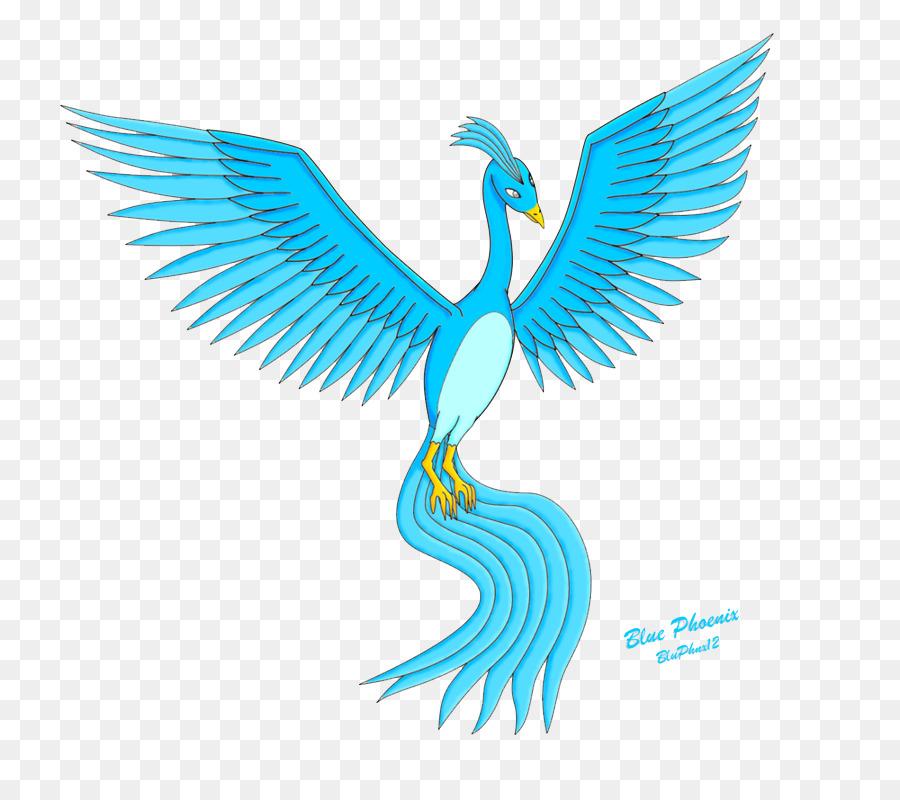 blue phoenix bird blue phoenix png image png download 900 783