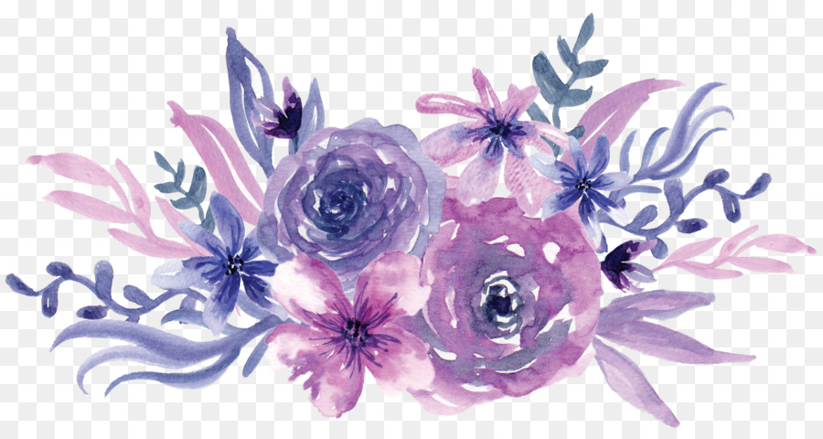 Png Watercolor Painting Flower Purple Watercolor Purpl 122471 on Frame Border Design