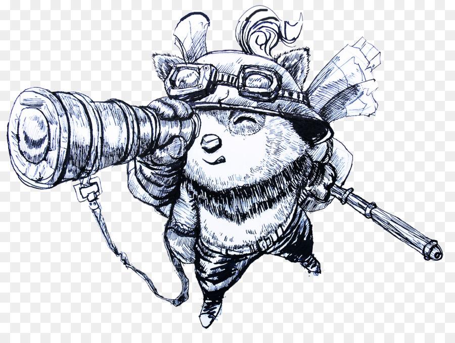 Gambar Ilustrasi Kartun Tangan Ditarik Animasi Lol Pahlawan Timo
