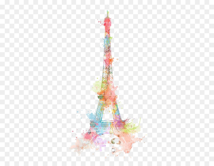 Eiffel Tower Drawing Watercolor Painting Retro Lovely