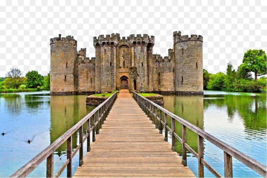 Castle Moat Drawbridge Wall Decal Sticker English