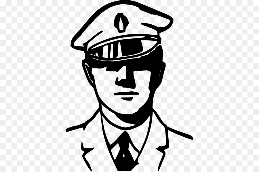 Police officer Black and white Police car Clip art ...