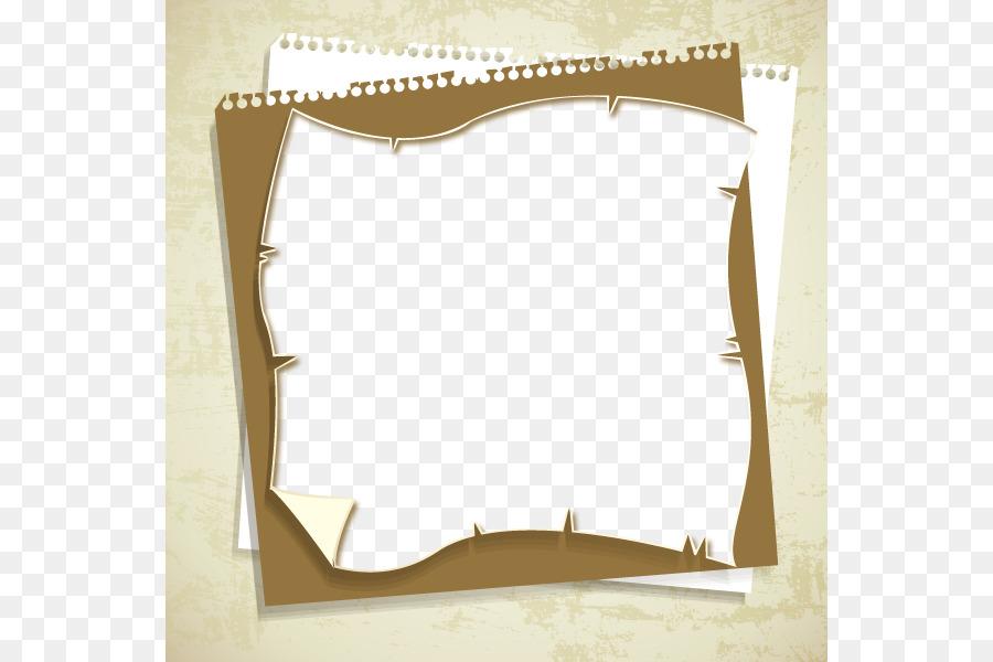 Collage Visual design elements and principles - Vintage brown frame ...
