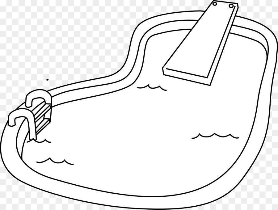 Coloring Book Swimming Pool Handipoints Clip Art