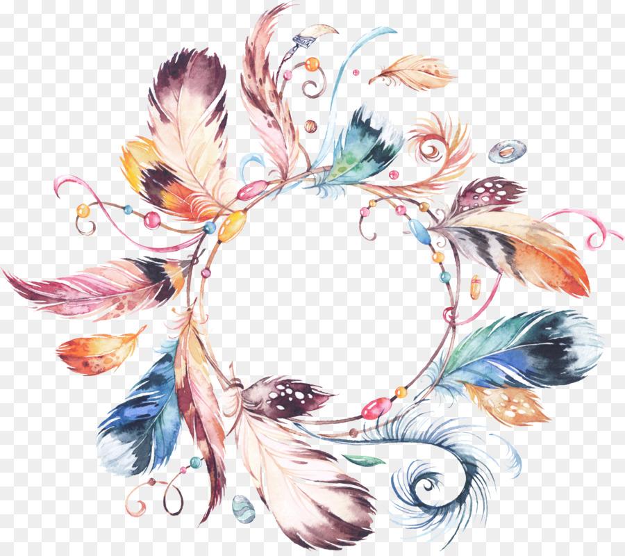 Wedding Invitation Wreath Watercolor Painting Flower