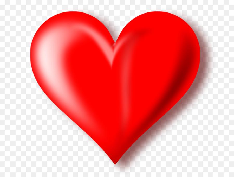 Heart Clip Art 3d Red Heart Transparent Background Png Download