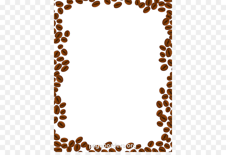Coffee Bean Cappuccino Cafe Clip Art Brown Border Cliparts Png Rh Kisspng Com