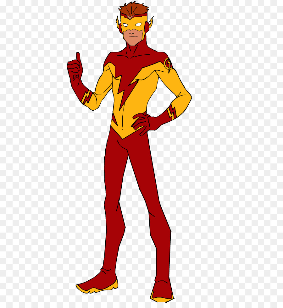 the flash young justice legacy robin wally west kid flash png