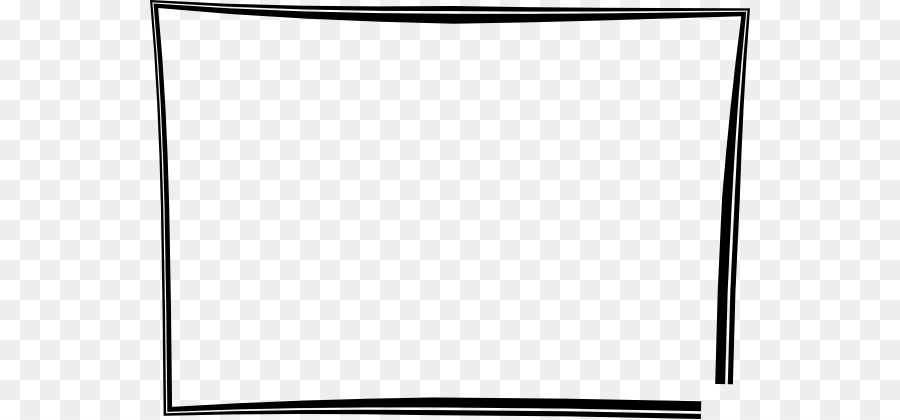 Black and white Square Area - Picture Frame Clipart png download ...