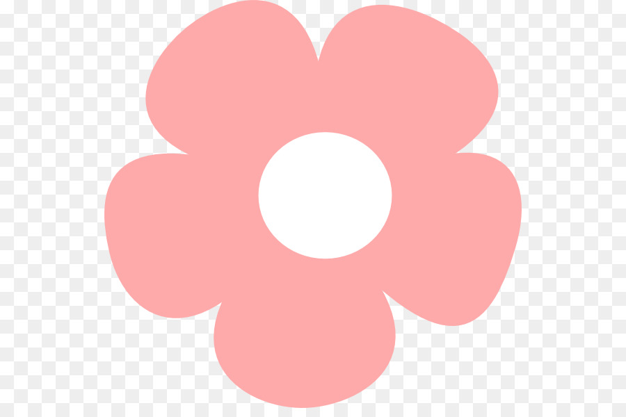 petal pink simple flower cliparts png download 600 587 free