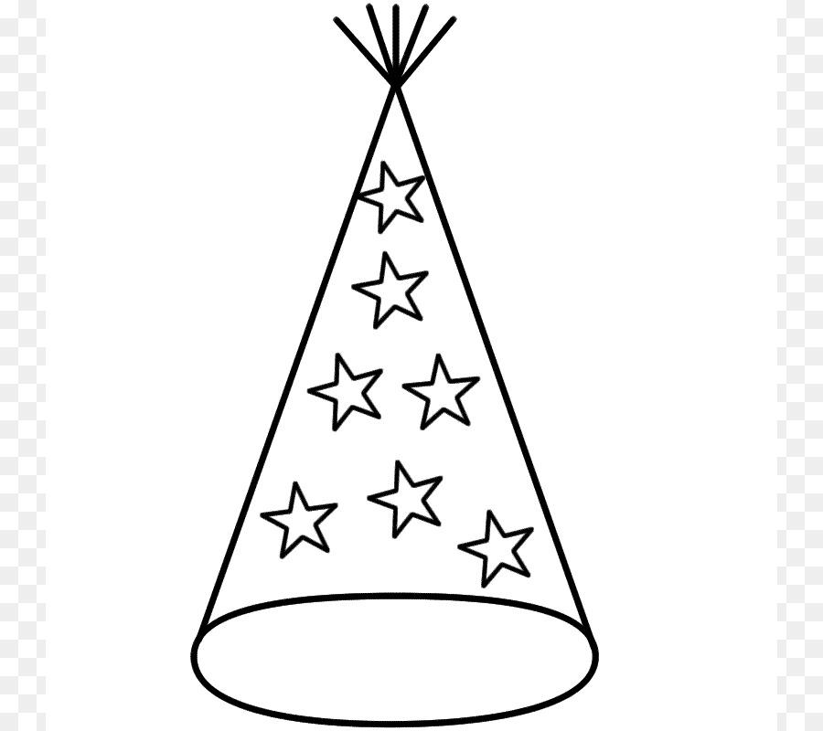 Sombrero de fiesta de la Víspera de año Nuevo para Colorear libro ...