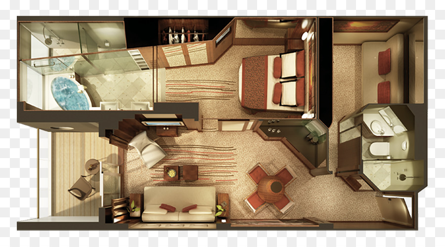 Norwegian epic crucero suite villa de norwegian cruise for Diseno de apartamento de soltero