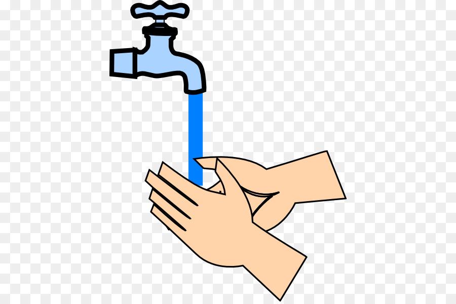 Hygiene Hand washing Food safety Clip art - Rinse Hands ...