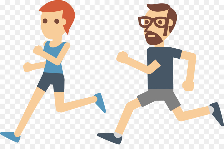 Physical Exercise Running Euclidean Vector Icon - Vector -8515