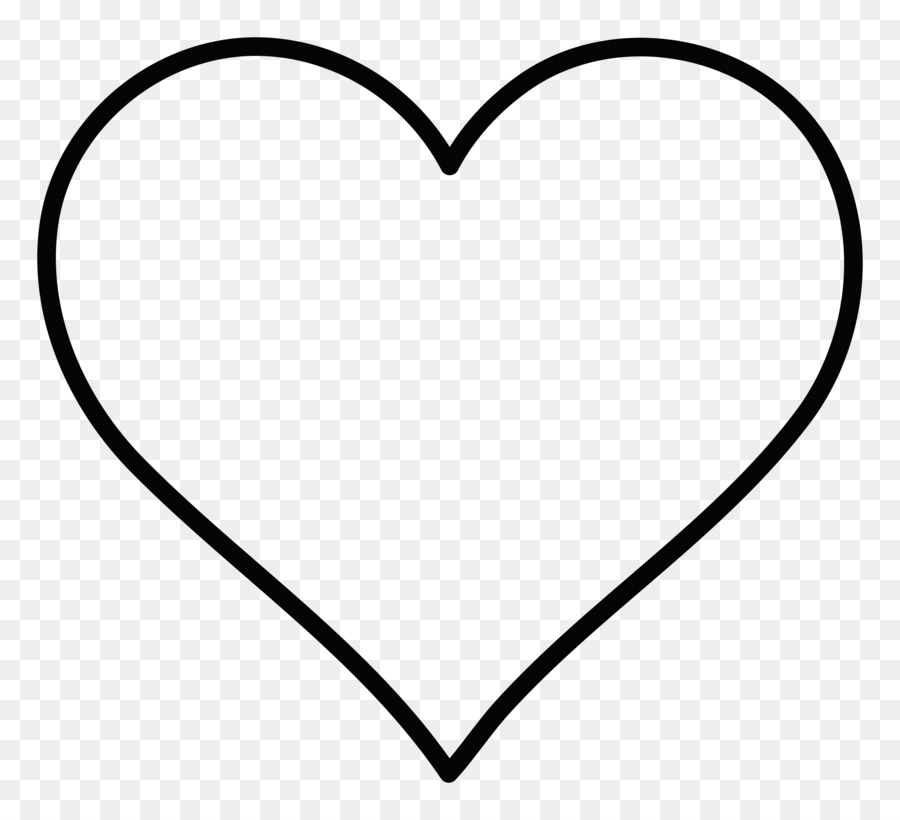 Black And White Heart Area Pattern Oval Outline Cliparts Png